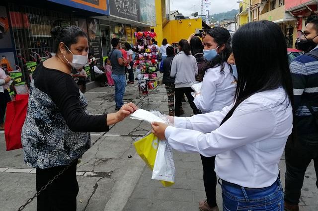 Canaco y empresas repartirán 6 mil cubrebocas en Huauchinango