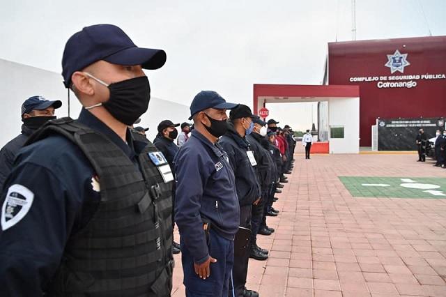Se reúne edil de Coronango con policías municipales