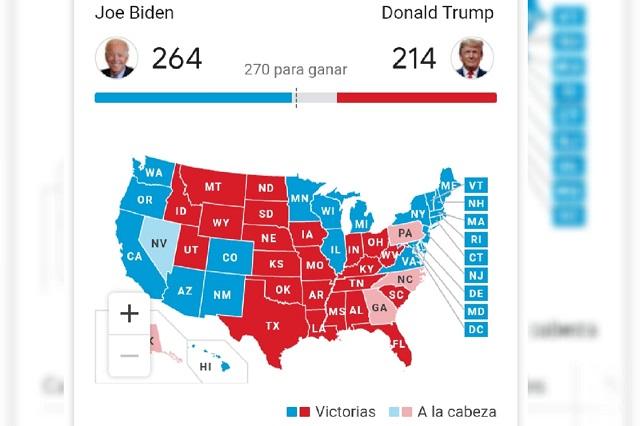 Biden acaricia la presidencia: gana Michigan y suma 264 votos