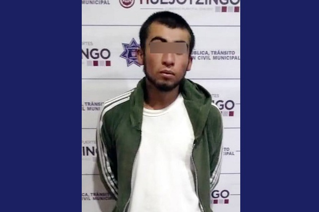 Lo asegura Policía Municipal de Huejotzingo por andar armado