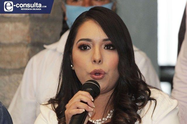Tonantzin Fernández se proclama candidata en San Pedro Cholula
