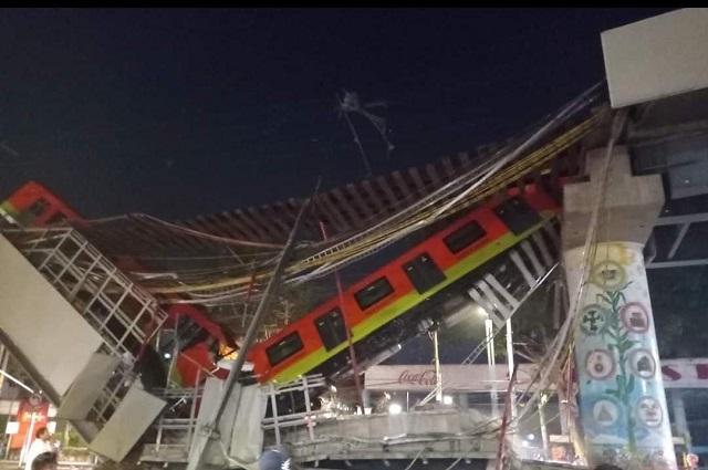 Colapsa estructura del Metro  en CDMX; reportan 23 muertos