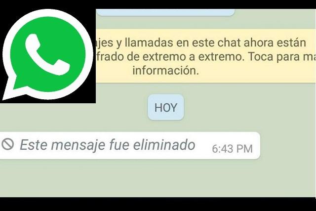 Mira este truco para leer un mensaje que fue borrado de WhatsApp