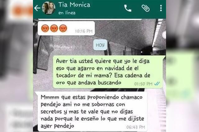 Joven extorsiona por WhatsApp a su tía y ella accede para no ir a la cárcel