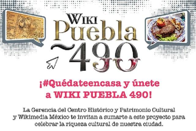 Gobierno capitalino impulsa Wiki Puebla en aniversario 490