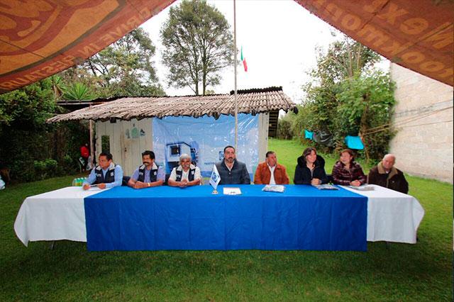 Colocan primera piedra de sede del PAN en Xiutetelco