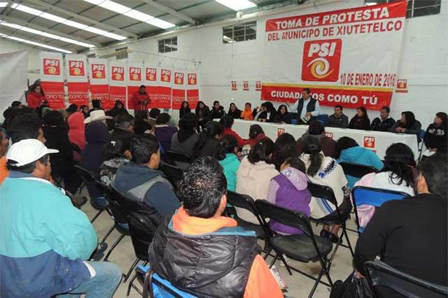 Toma de protesta de coordinación de PSI en San Juan Xiutetelco