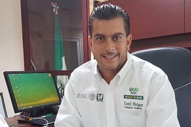 Por arribar a Puebla, el nuevo delegado del IMSS, Yamil Melgar