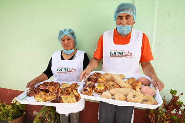 Impulsa Granjas Carroll curso de panadería casera en Aljojuca