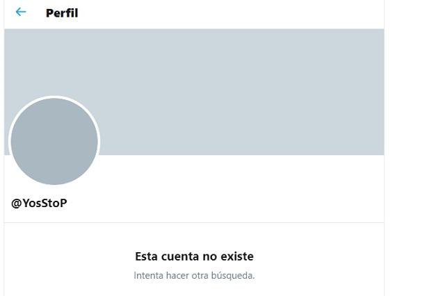 #LadyYate: Cuenta de Twitter YosStop desaparece tras escándalo