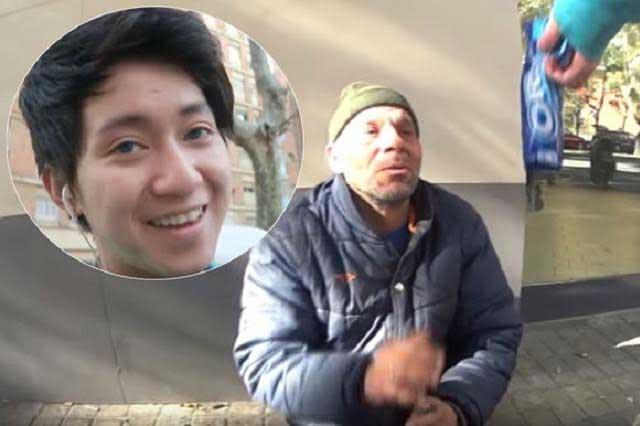 Indigna video de youtuber que da de comer pasta de dientes a indigente
