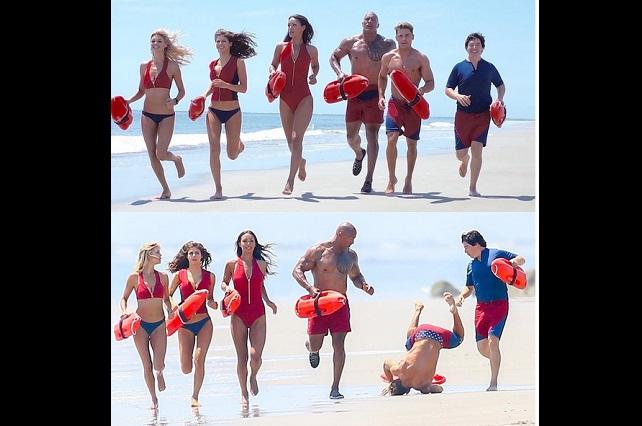 Zac Efron sufre aparatosa caída al filmar Baywatch