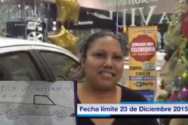 Tras robo, dibujo y memes, mujer recibe camioneta nueva por millón de Likes