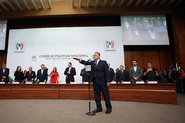 El PRI arranca campaña en tercer lugar en Puebla, reconoce CEN