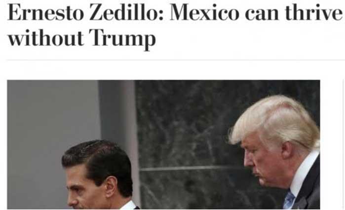 Inútil negociar con Trump, publica Zedillo en el Washington Post