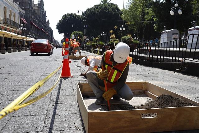 Remodelar zócalo de Puebla durará 6 meses y costará 60 mdp
