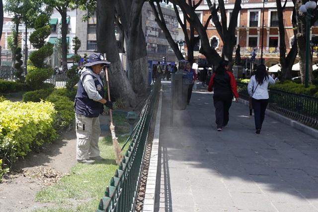 Hacer eventos políticos en el zócalo  de Puebla requiere permiso  municipal