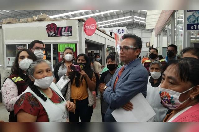 Luego de protestas en mercado de Tehuacán ratifican al actual administrador