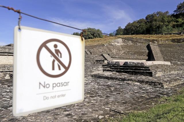 Por pandemia cierran zona arqueológica de Cholula
