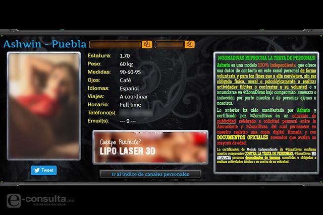 Mujeres de Puebla figuran en el perseguido portal Zona Divas