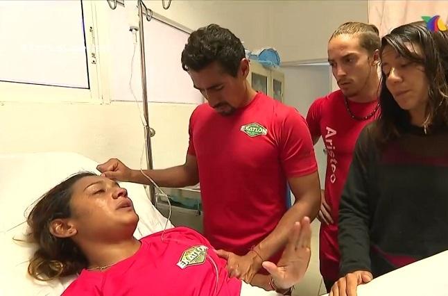 Zudikey queda fuera del Exatlón por lesión y es operada
