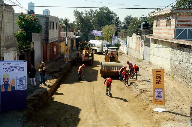 Repiten colonias obras de pavimentación con Rivera y Banck